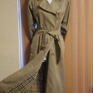 Burberry Double Breasted Trench Coat 4 or 6 Long